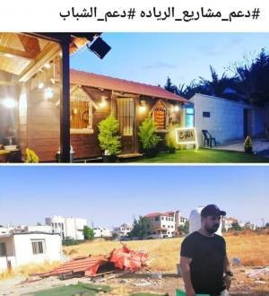 """بالصور  ..  """"الامانة"""" تهدم كوخاً خشبياً لشاب يعتاش منه و أمين عمان يغرد : مخالف للقانون"""