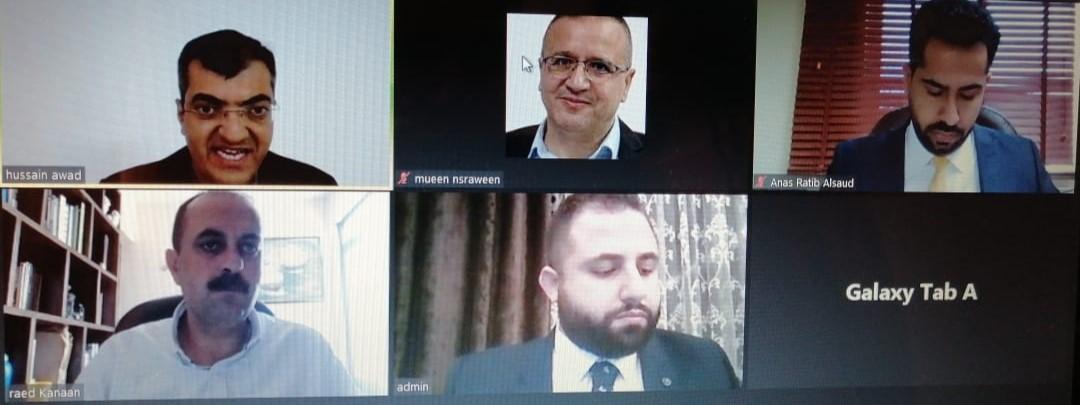 """مناقشة رسالة الماجستير رقم (57) عن بعد في """"عمان العربية"""" حول أثر تطبيق الأعمال الإلكترونية في أداء المؤسسات الصغيرة ومتوسطة الحجم في المملكة الأردنية الهاشمية"""