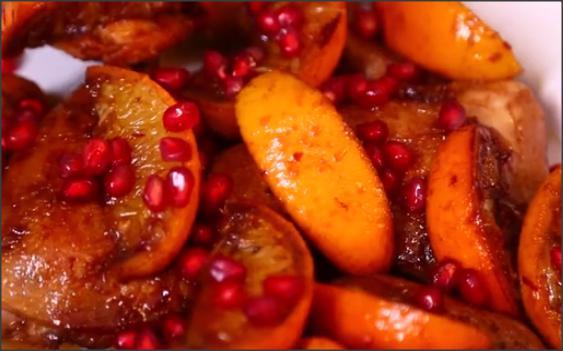 بالفيديو .. دجاج بصلصة البرتقال ودبس الرمان