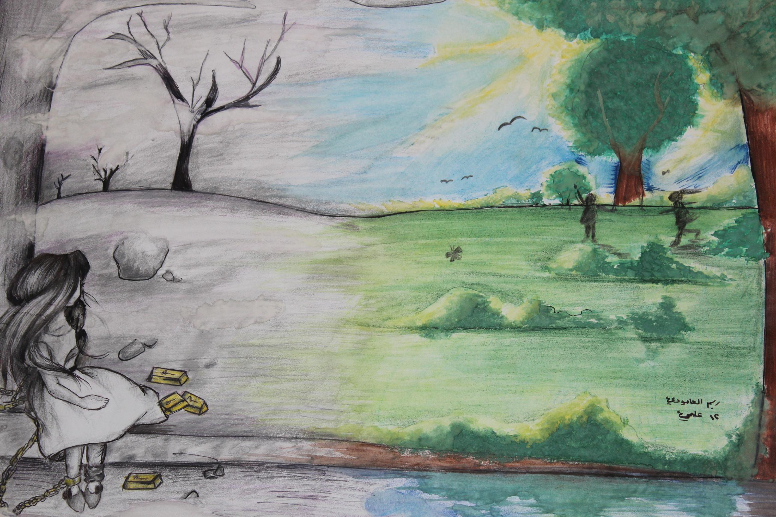 افتتاح فعاليات ورشة الرسم الحر المباشر للطبيعة في اربد