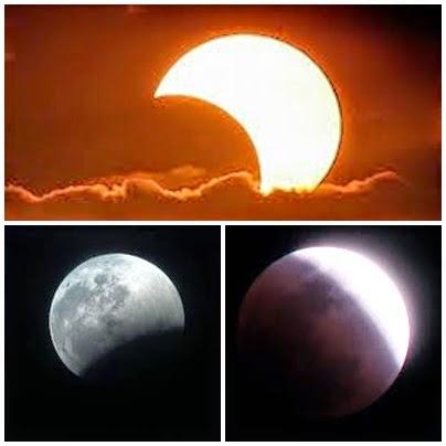 خسوف كلي للقمر و كسوف جزئي للشمس نهاية الشهر الحالي