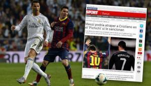 صحيفة كتالونية تسخر: رونالدو يتفوق على ميسي بالبطاقات الحمراء
