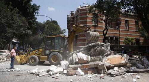 بالفيديو.لحظات مرعبة من زلزال المكسيك