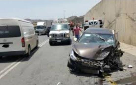 إصابة (7) أشخاص اثر حادث تصادم في محافظة المفرق