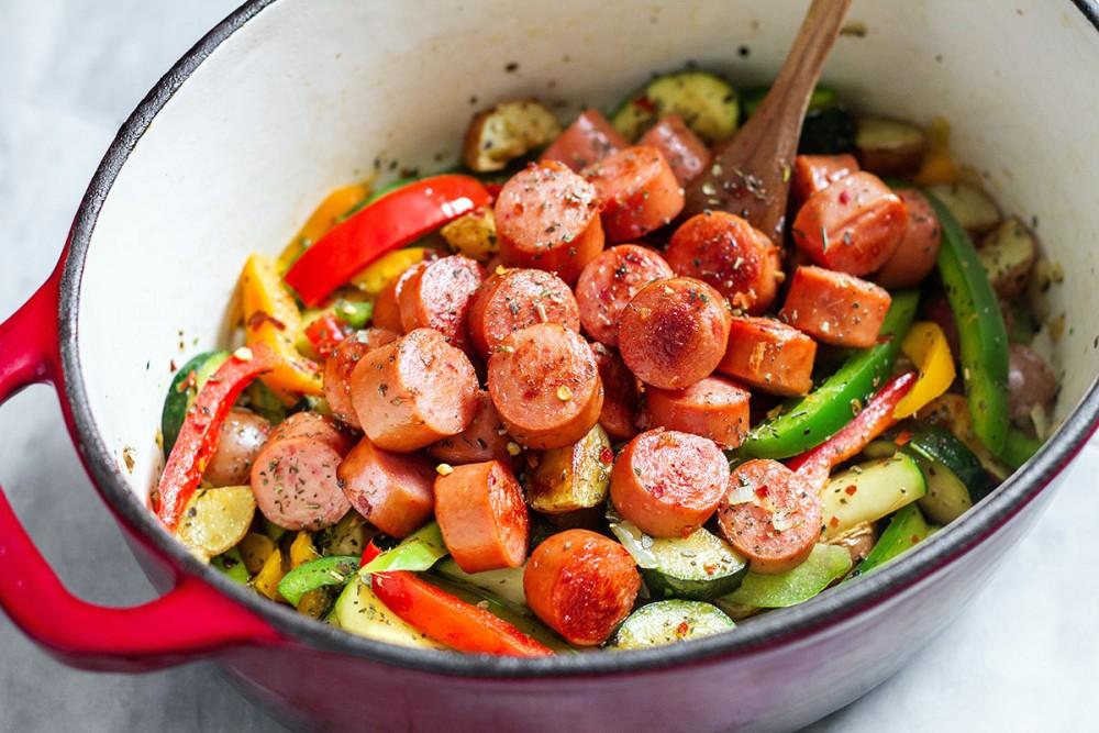 طريقة تحضير السوسيس بالخضروات للرجيم