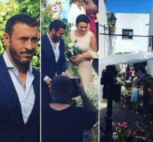 بالصور ....زفاف كاظم الساهر وعروسه تتألق بالأبيض