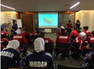 اجتماع تنسيقي لمنتخب السيدات مع المنظمين لكأس العالم