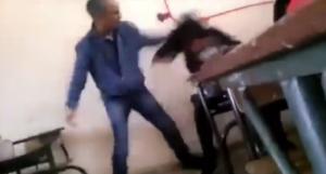 فيديو صادم  ..  أستاذ يعتدي بوحشيّة على طالبة يهز الرأي العام