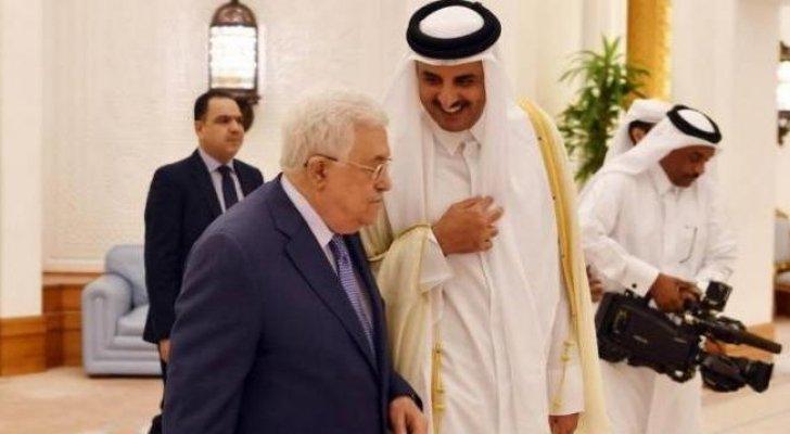 أمير قطر يؤكد لعباس ضرورة وحدة الصف الفلسطيني