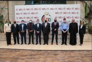 ضمن نشاطات جامعة الشرق الأوسط MEU بمئوية الدولة تستضيفُ الحفلَ الختاميَّ لمشروع الفريق الوطنيِّ لِلسِّلم المُجتمعيِّ في رِحابِها