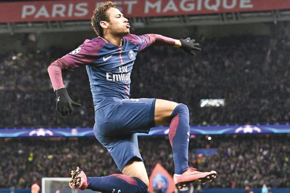 نيمار أفضل لاعب في إياب الدور ربع النهائي لدوري أبطال أوروبا