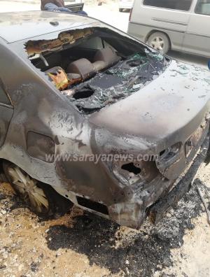 بالصور  .. حرق مركبة موظف بوزارة العمل بعد شهادته بقضايا فساد
