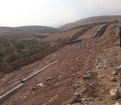 تواصل حفر أنبوب الغاز الإسرائيلي بالأردن