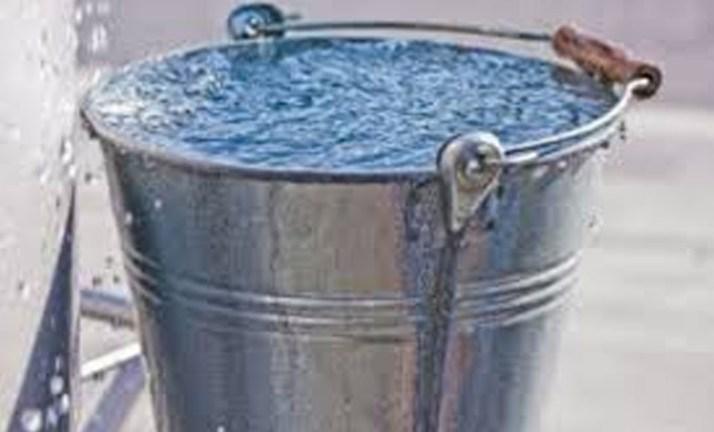 المشكلة دلو ماء