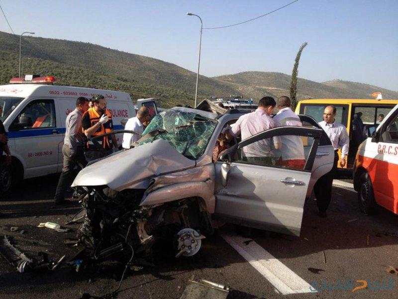 إصابة 5 أشخاص بحادث تصادم ي عجلون