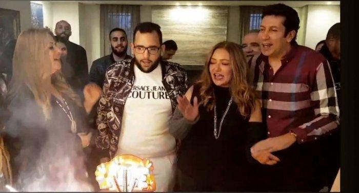 بالصور ..  ليلى علوي تحتفل بعيد ميلاد ابنها خالد بحضور كبار النجوم