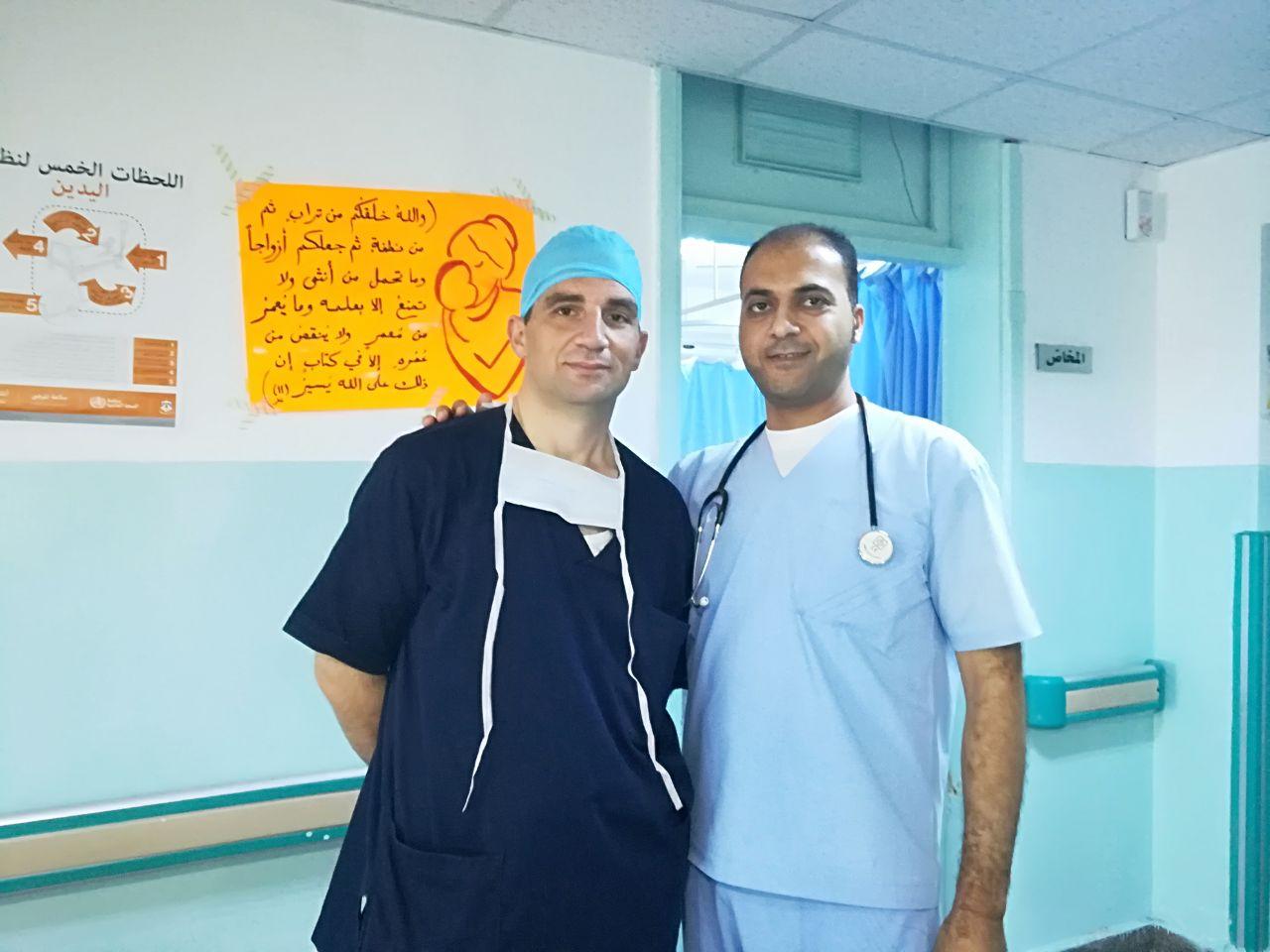 شكر وتقدير إلى الطاقم الطبي في مستشفى معاذ بن جبل
