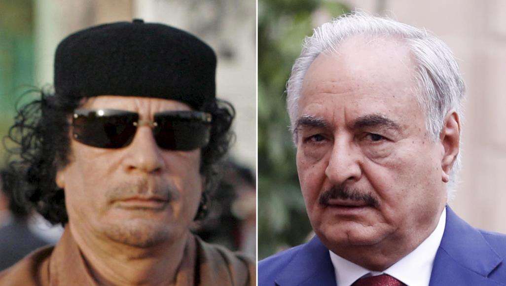 تسريب فيديو سري يُنشر لأول مرة بين القذافي وحفتر !