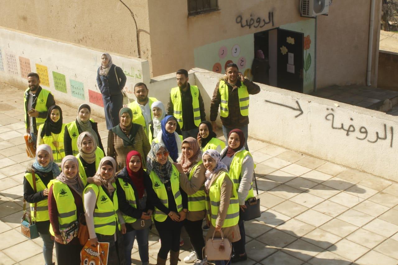 """مبادرة تنفذها """"عمان العربية"""" في مدرسة الراية بجرش"""