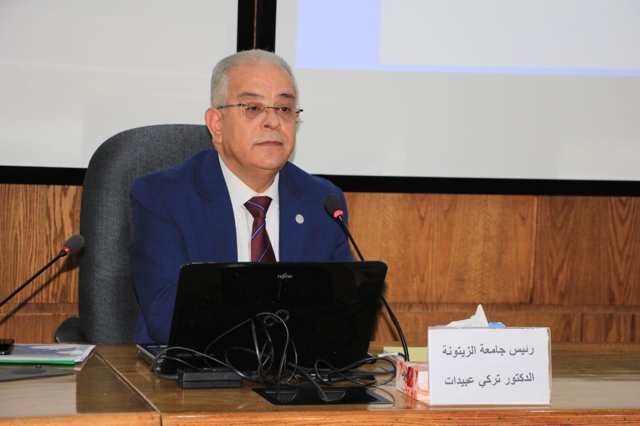 رئيس جامعة الزيتونة يحاضر في كلية الدفاع الوطني حول التخطيط الاستراتيجي