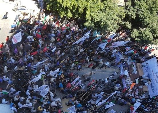 مسيرة حاشدة للفصائل بغزة احياء ليوم القدس العالمي