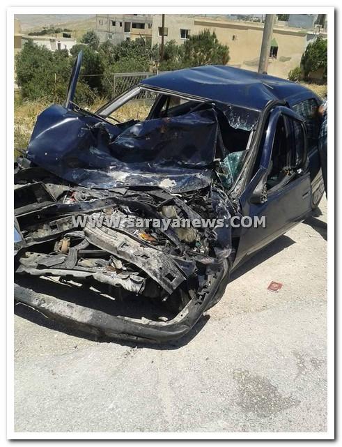بالصور .. وفاة ثلاثيني بحادث تصادم على طريق ( صمد - عجلون )
