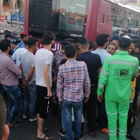 أنباء عن دهس الباص السريع لمواطن أمام الأردنية