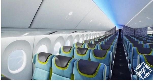 بالصور  ..  بوينغ تكشف عن مقصورات طائرات الجيل القادم
