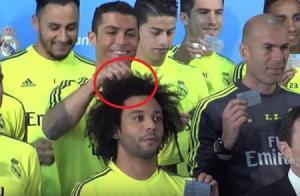 بالفيديو .. رونالدو يسخر من شعر مارسيلو في لقطة طريفة