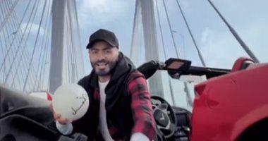 بالفيديو و الصور   ..  تعرفوا على ابرز الاحداث الرياضية التي شارك بها تامر حسني