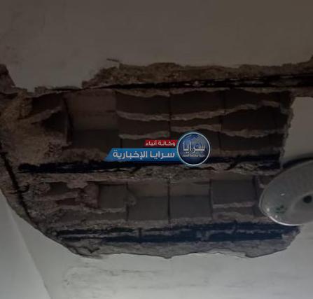 """سيدة أردنية تناشد أهل الخير مساعدتها: """"سقط سقف المنزل و ليس لي """"مُعيل"""" إلا الله  ..  صور"""