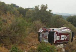 رالي لبنان: حادث يضع العطية خارج المنافسة