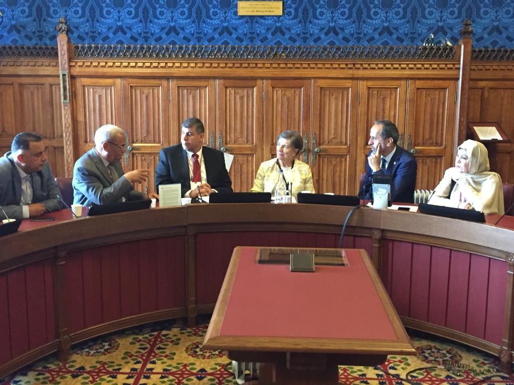 فلسطين النيابية تبحث مع أعضاء مجلسي العموم البريطاني واللوردات ملف القضية الفلسطينية