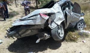 الطفيلة : إصابة (7) أشخاص اثر حادث تدهور في منطقة الحسا