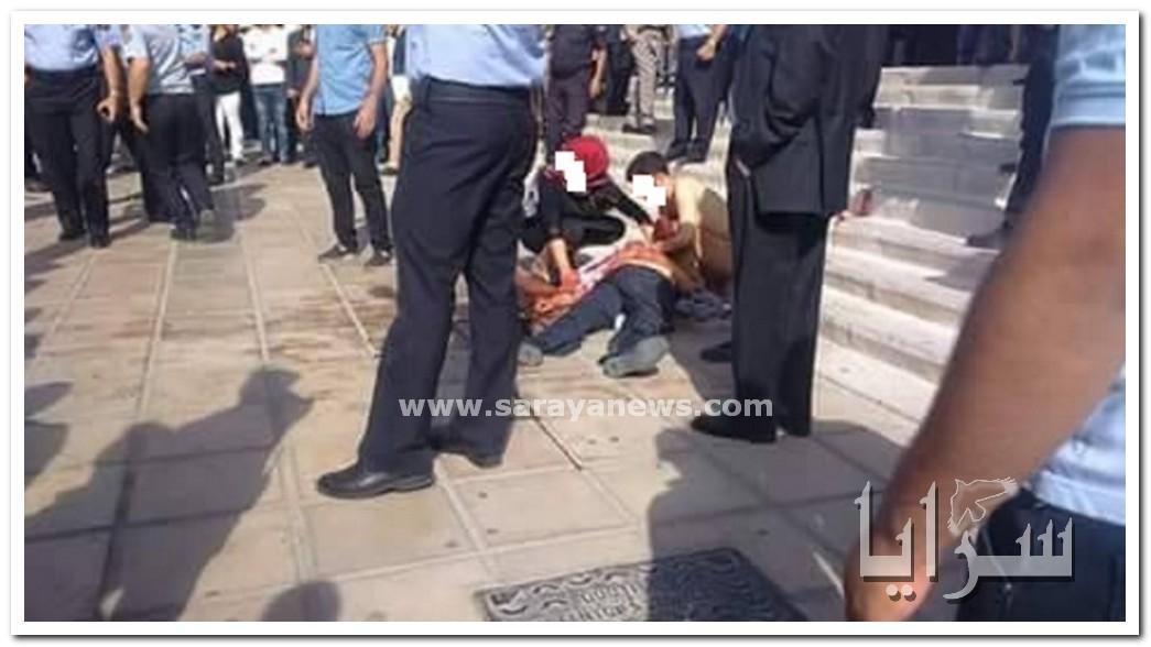 بالصور .. مقتل الكاتب ناهض حتر باطلاق النار عليه امام قصر العدل .. و الامن يلقي القبض على الفاعل