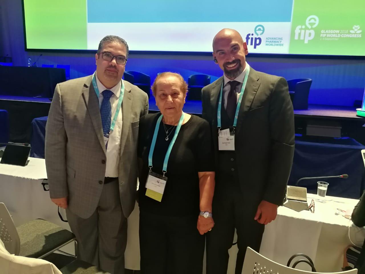 د. القسوس اول عربية تفوز بمركز نائب رئيس اتحاد الصيادلة العالمي