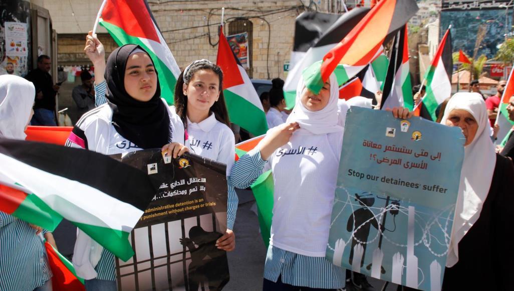 اعتصامات وفعاليات في المدن الفلسطينية تضامنا مع الأسرى في سجون الاحتلال