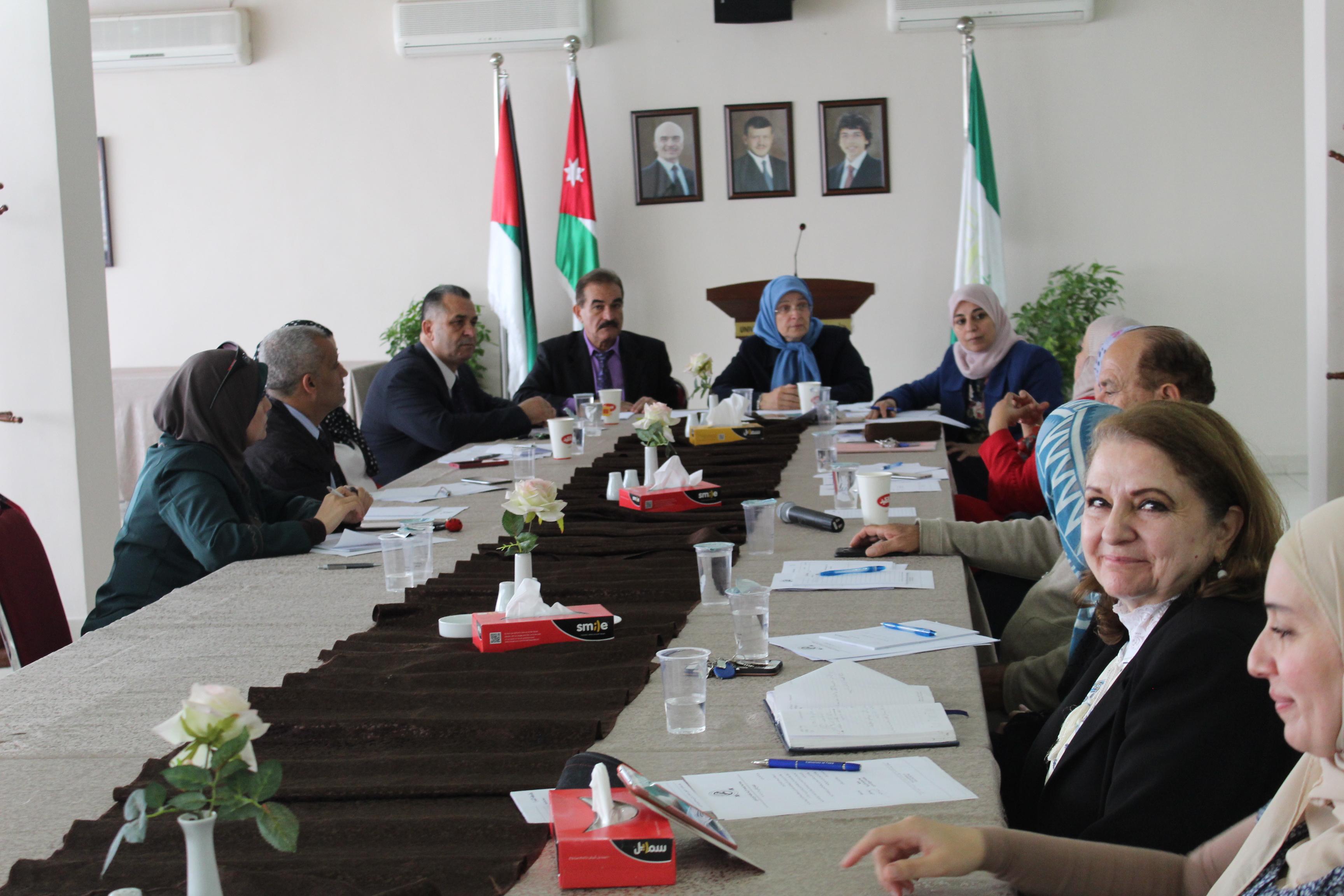 اعضاء اتحاد الجامعات الاردنية يشيد بجهود جامعة البترا الداعمة للاتحاد