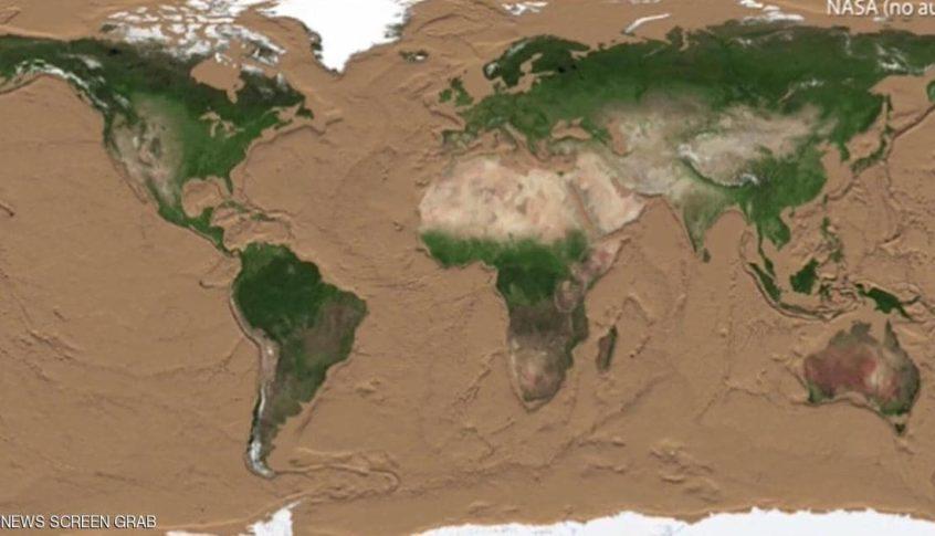 فيديو صادم يظهر شكل الأرض بعد جفاف مياهها