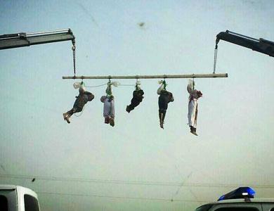 صلب خمسة يمنيين في السعودية بعد إعدامهم