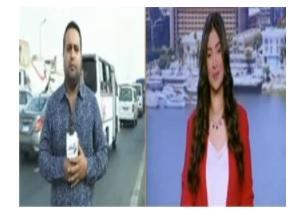 بالفيديو : مراسل مصري يتعرض لحادث تصادم على الهواء