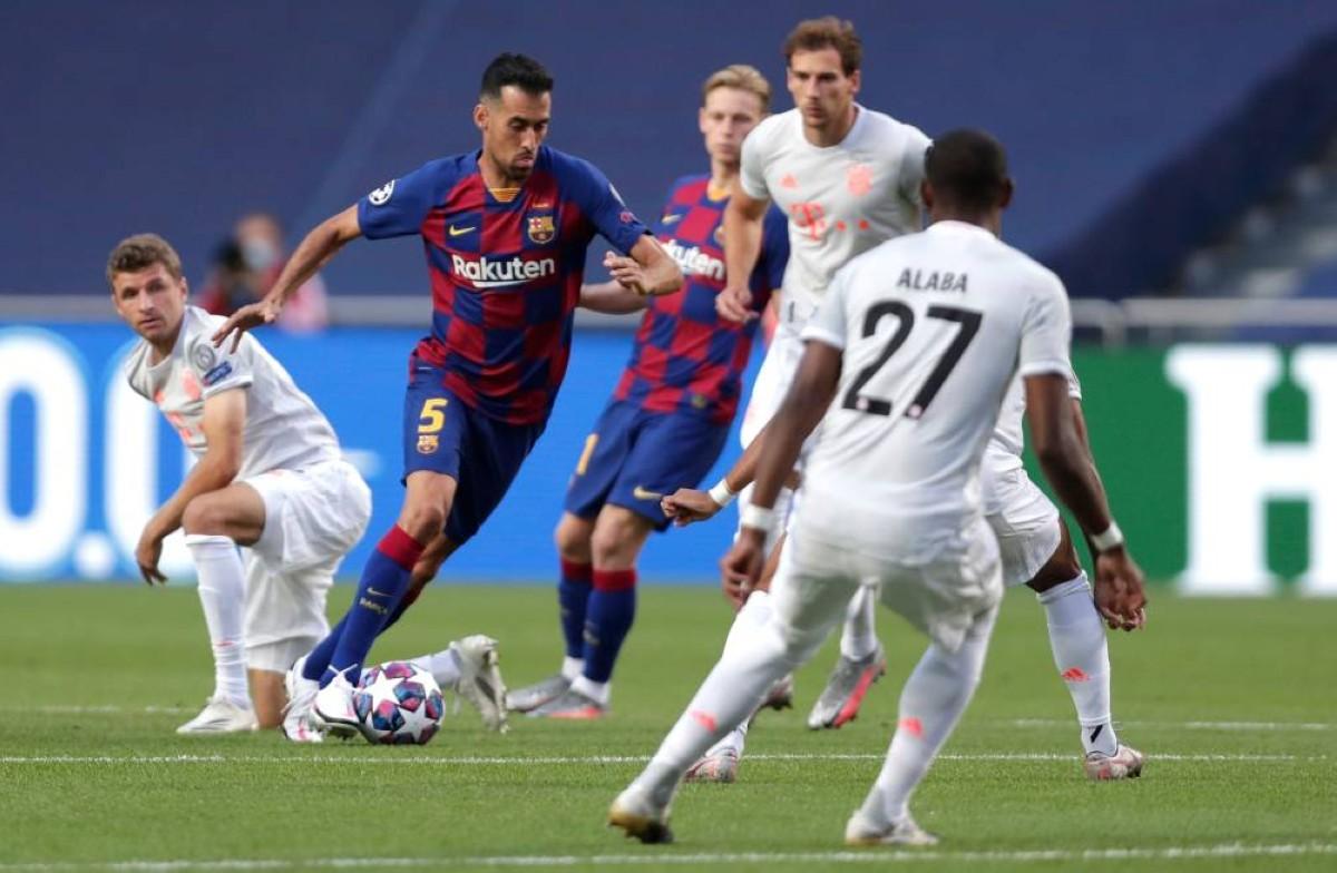 برشلونة 2-8بايرن ميونخ في دوري أبطال أوروبا