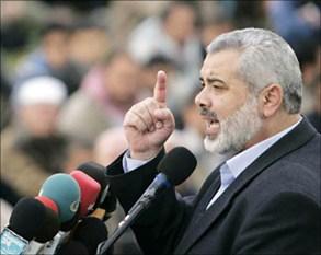 هنية: نرفض المبادرة العربية لمبادلة اراض مع اسرائيل