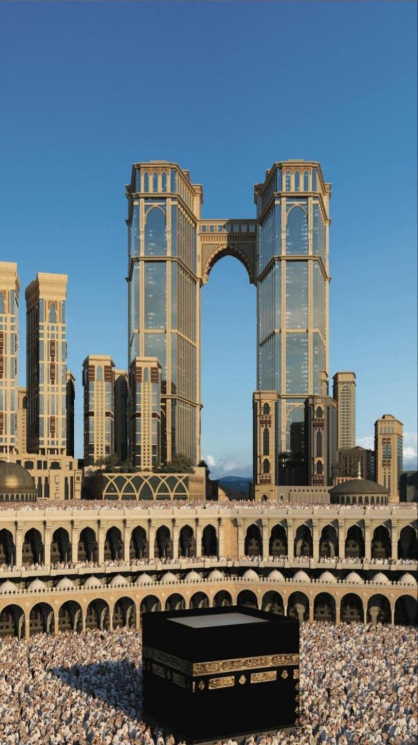 بالصور ..  السعودية تنشر تفاصيل أعلى مصلى معلق في العالم