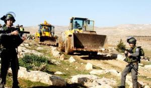 الاحتلال يجرف أراضي شمال يعبد