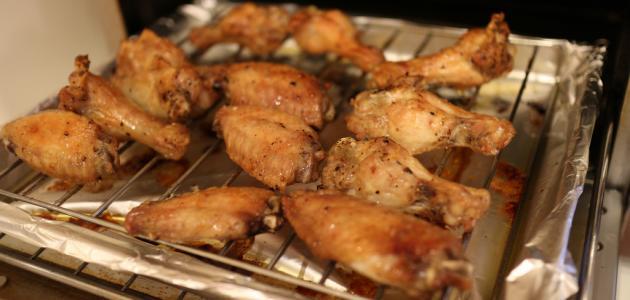اجنحة الدجاج بالفرن