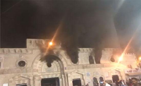 رئيس الديوان الملكي يتفقد المسجد الحسيني