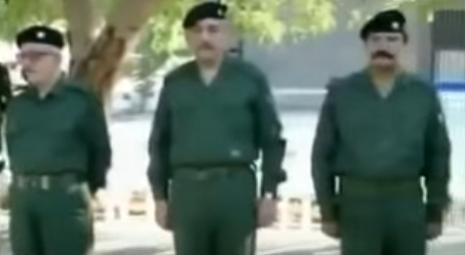 فيديو نادر .. وزراء صدام حسين يقومون بتدريبات صباحية عسكرية