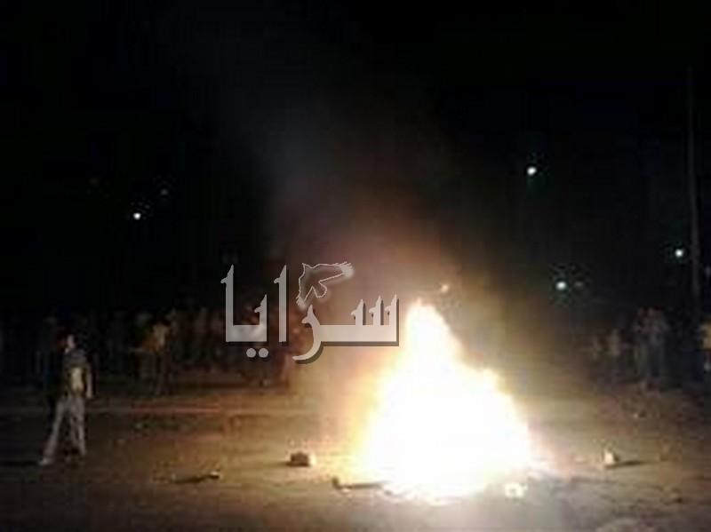 إغلاق طريق مأدبا - عمان إحتجاجاً على الإنتخابات البلدية