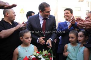 برعايه رئيس الوزراء الاسبق سمير الرفاعي المسلماني يفتتح مقره الخدماتي